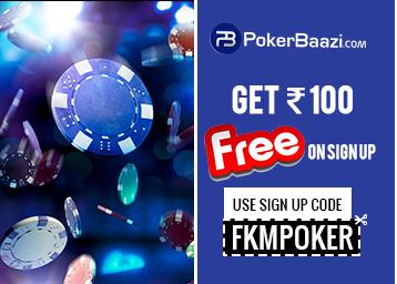 Promotional codes Poker Baazi