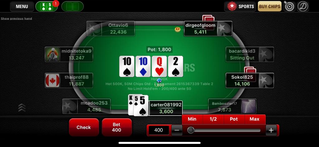 Choosing a room at Pokerstars